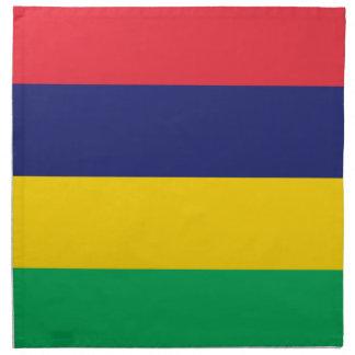 Low Cost! Mauritius Flag Napkin