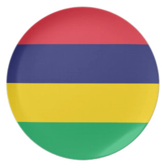 Low Cost! Mauritius Flag Plate