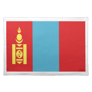 Low Cost! Mongolia Flag Placemat