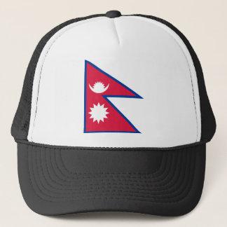 Low Cost! Nepal Flag Trucker Hat