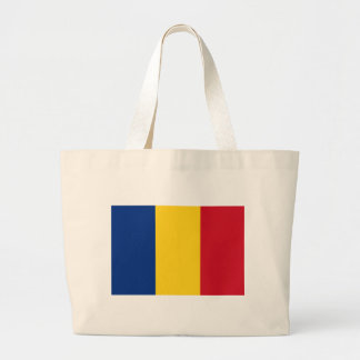 Low Cost! Romania Flag Large Tote Bag