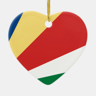 Low Cost! Seychelles Flag Ceramic Heart Decoration