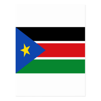 Low Cost! South Sudan Flag Postcard