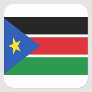 Low Cost! South Sudan Flag Square Sticker