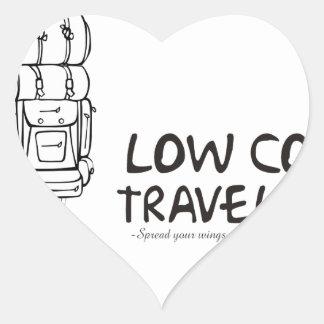 Low Cost Traveler Heart Sticker