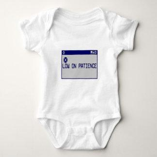 Low On Patience Baby Bodysuit