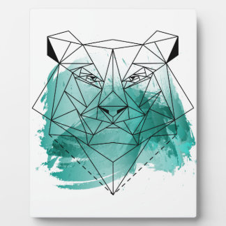 Low poly bear plaques