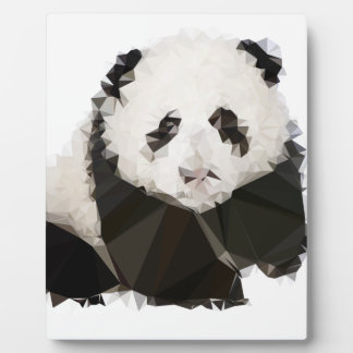 Low Poly Panda Plaque