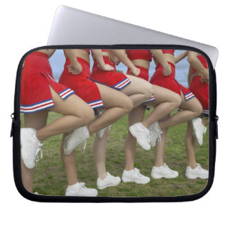 Low Section View of a Group of Cheerleaders Laptop Sleeve