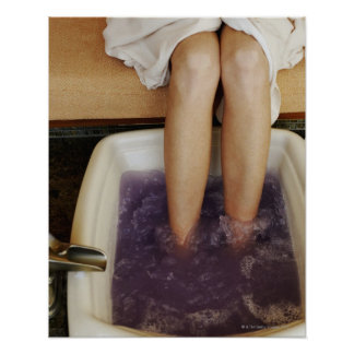 Low section view of a woman getting a pedicure poster