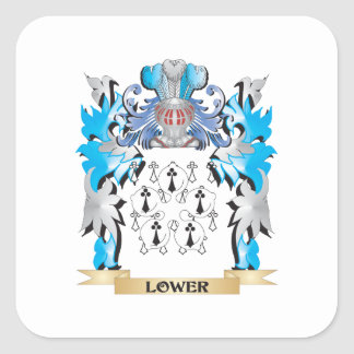 Lower Coat of Arms - Family Crest Square Sticker