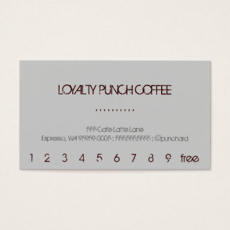 Loyalty Coffee Punch-Card Business Card