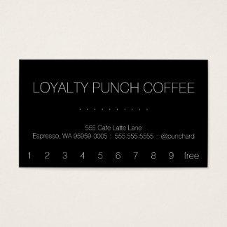 Loyalty Coffee Punch-Card Swiss Business Card