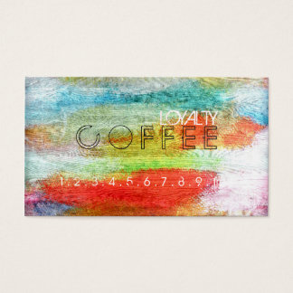 Loyalty Coffee Punch Colorful Modern Wood #46