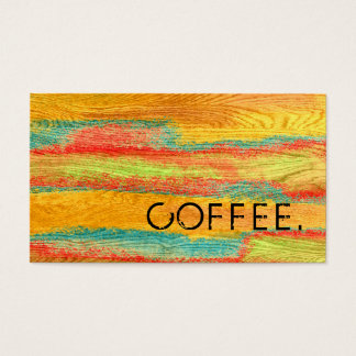 Loyalty Coffee Punch Colorful Modern Wood Look #6