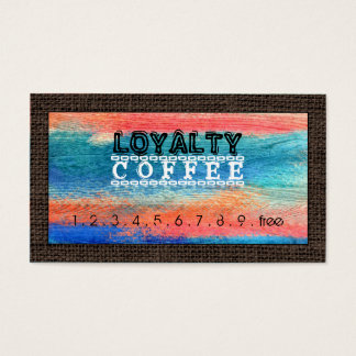 Loyalty Coffee Punch Colorful Wood #10