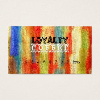 Loyalty Coffee Punch Colorful Wood Grain #5