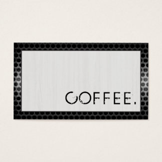 Loyalty Coffee Punch Wood Look Modern Metal #5 Business Card