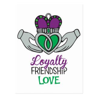 Loyalty Friendship Love Postcard