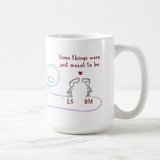 """""""LS heart DM"""" Basic White Mug"""
