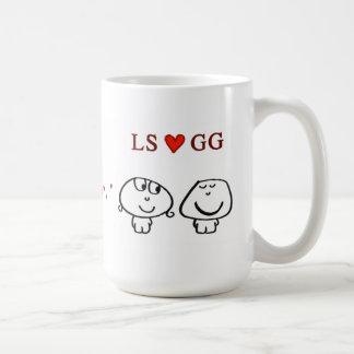 """""""LS heart GG"""" Basic White Mug"""