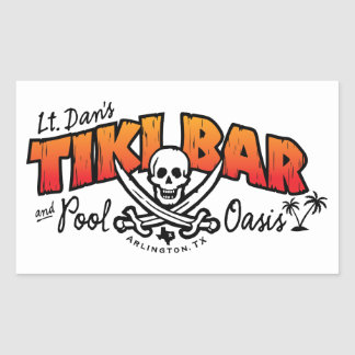 Lt. Dan's Tiki Bar & Pool Oasis Merchandise Rectangular Sticker