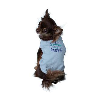 Lu-Seal's 8 Pound Party Dog T-Shirt (Blue)