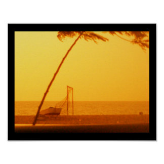 Luanda beach poster