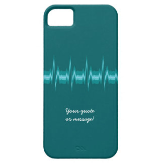 Lubdub Teal Customisable Phone Case. Case For The iPhone 5