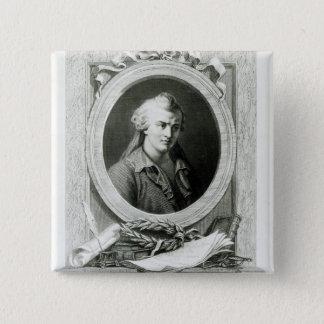 Luc de Clapiers  Marquis of Vauvenargues 15 Cm Square Badge