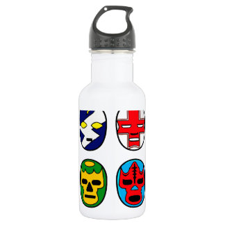 Lucha Libre Luchador Mexican Wrestling Masks 532 Ml Water Bottle