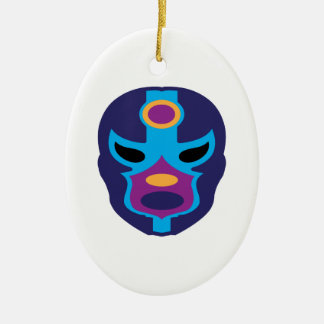 Lucha Libre Mask Ceramic Oval Decoration