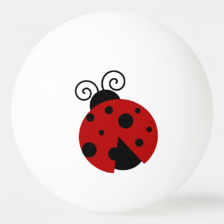 Luck be a Ladybug Cartoon Ping Pong Ball