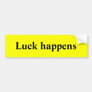 Luck happens bumper sticker