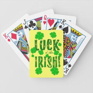 Luck o the Irish Lucky Four Leaf Clover Cards