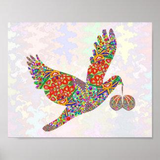 Lucky ANGEL Bird  Art Poster