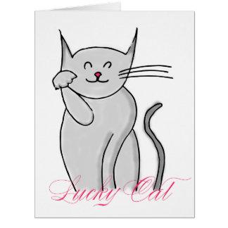 Lucky Cat Big Greeting Card (blank inside)