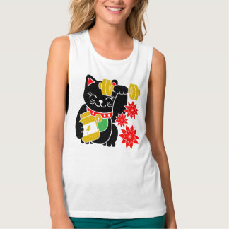 Lucky Cat Maneki Neko Lift Workout Shirt