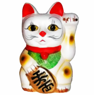 Lucky Cat Maneki Neko Photo Cut Outs