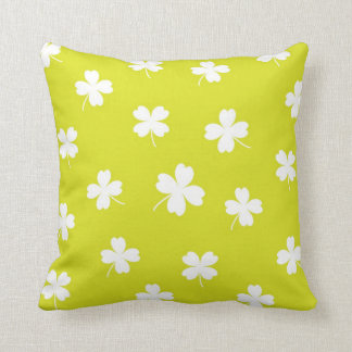lucky chartreuse cushion