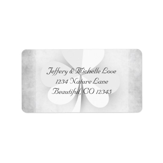 Lucky Clover Irish Grey and White Address Label