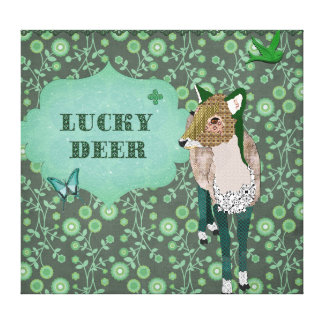 Lucky Deer Canvas Art Gallery Wrapped Canvas