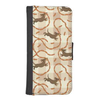 lucky dogs with sausages background iPhone SE/5/5s wallet case