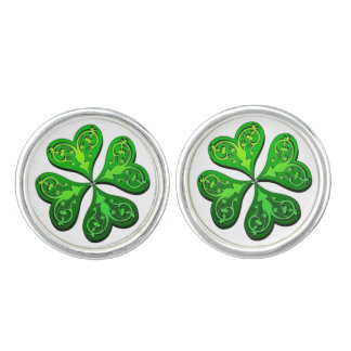 Lucky Four-Leaf Clover Cuff Links