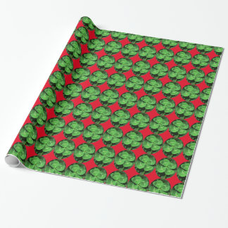 Lucky Four Leaf Clover Wrapping Paper