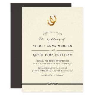 Rustic Horseshoe Wedding Invitations