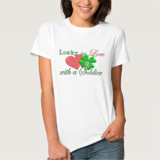 Lucky in Love Soldier T Shirts