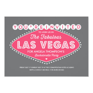 Lucky in Pink Bachelorette Party Invitation