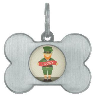 lucky leprechaun pet ID tag