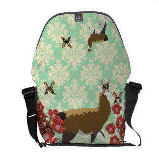 Lucky Llama & Golddust Butterflies Messenger Bag